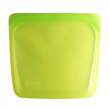 Sac Réutilisable En Silicone - Lime - stasher - 450ml