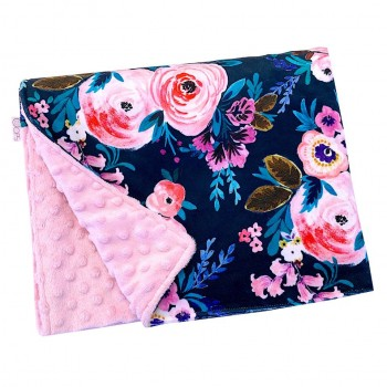 Couverture Minky - Floral - Oops