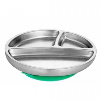 Assiette Inox Enfant - Vert - Avanchy