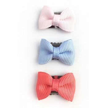 Mini Barrettes Trio - Rose/bleu/melon - Baby Wisp