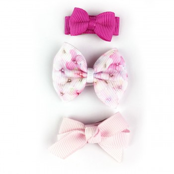 Barrettes Trio - Floral Rose - Baby Wisp