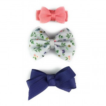 Barrettes Trio - Foral Gris - Baby Wisp