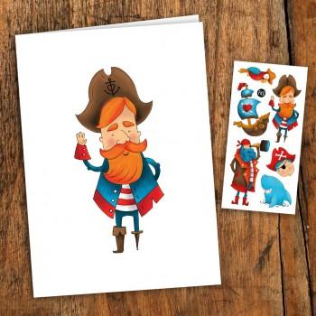 Carte de Souhait - Pirates - Pico