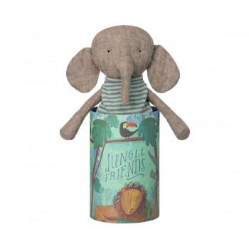 Peluche Elephant Dans Sa Boite - Maileg