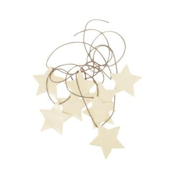 Guirlande - étoile Ivoire