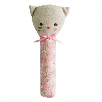 Hochet Chat Odette - Fleuri Rose