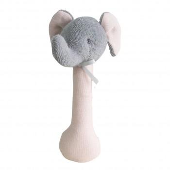 Hochet Éléphant - Rose - Ratine et Lin