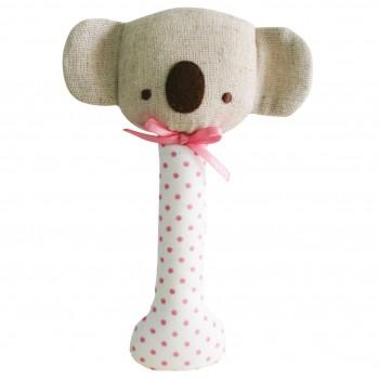 Hochet Koala - Lin et Pois Rose