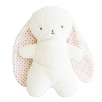 Peluche Lapin - Oreille Pois Rose