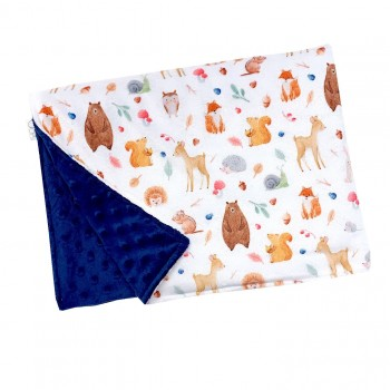 Couverture Minky - Woodland 2 - Oops