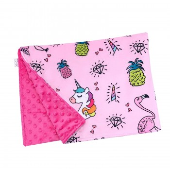 Couverture Minky - Licorne Magique - Oops