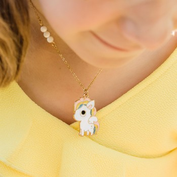 Collier Rainbow Petite Fille - Bijoux Sophistikate