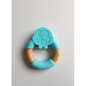 Anneau de Dentition Chouette - Turquoise - Pois & Moi