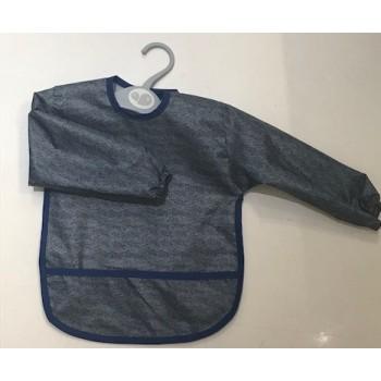 Bavoir À Manches - 12-24mois - Charcoal Jeans - Perlimpinpin