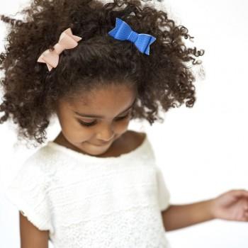 Duo Petites Boucles à Cheveux - Rose Blush et Bleu Cobalt - Lox Lion