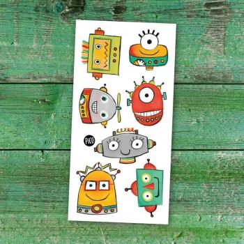 Tatouage Temporaire - Les Robots Rigolos - Pico