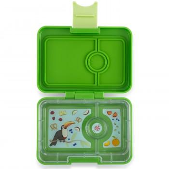 Yumbox Mini Snack 3 Compartiments - Cilantro Vert
