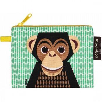 Porte-monnaie en Coton biologique - Chimpanzé - Coq en Pâte