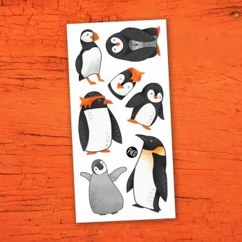 Tatouage Temporaire - Les Charmants Pingouins - Pico