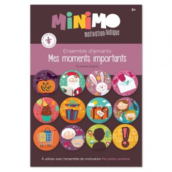 Mes Moments Importants (ens 12 Aimants) - Minimo