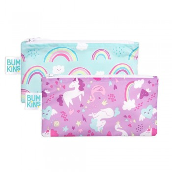 Sac A Collation 2/pqt - Licorne - Bumkins