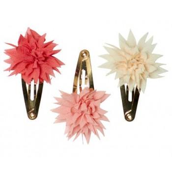 Clip pour Cheveux Fleur Dahlia 3/pqt - Maileg