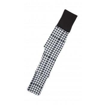 Pantalon Évolutif (0-12m) - Carreaux noir et blanc - Coton Vanille
