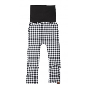 Pantalon évolutif (6-36m) - Carreaux Noir Et Blanc - Coton Vanille