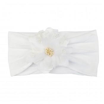 Bandeau Blanc avec Fleur - Baby Wisp
