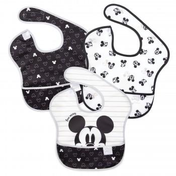 Bavette Imperméable 3/pqt - Disney Mickey Love - Bumbins