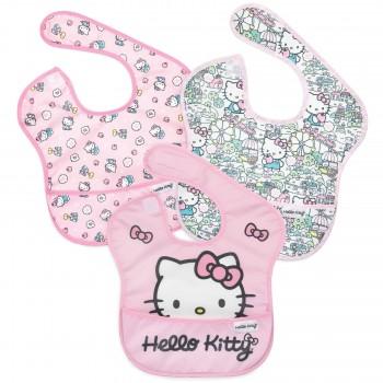 Bavette Imperméable 3/pqt - Hello Kitty - Bumkins