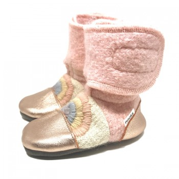 Chaussons en Laine Feutrée - Gr.4 (6-12M)  Love Child - Nooks Design