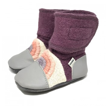 Chaussons en Laine Feutrée - Gr.4 (6-12m) - Dream On - Nooks Design