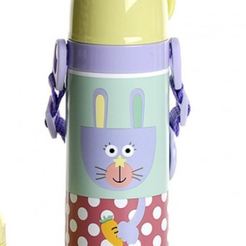 Bouteille Isotherme Animo Kids - Lapin Jaune