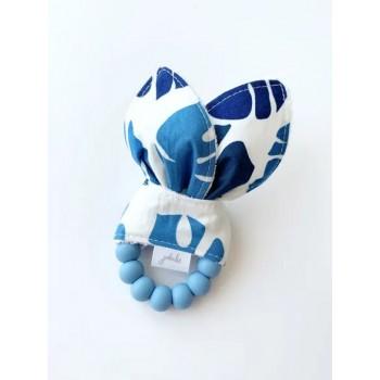 Hochet Dentition - Feuillage Bleu - Jululu