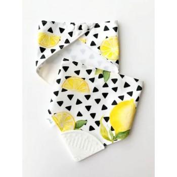 Bavoir De Dentition Jululu - Citrons et Triangle