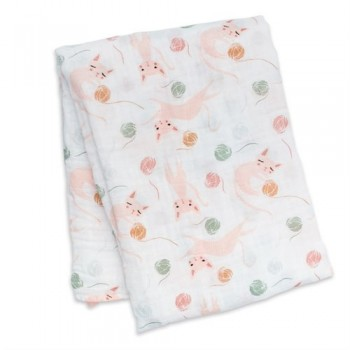 Couverture De Mousseline Coton - Kitty - Lulujo
