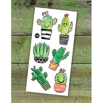 Tatouage Temporaire - Les Cactus - Pico