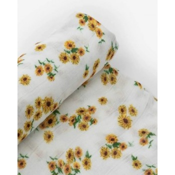 Couverture De Mousseline De Bambou - Tournesol
