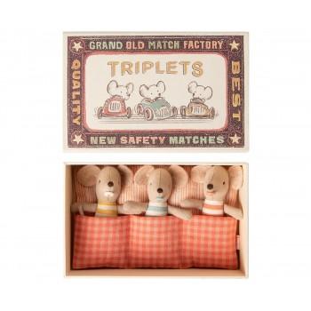 Bébé Souris Triplets dans sa Boite - Maileg