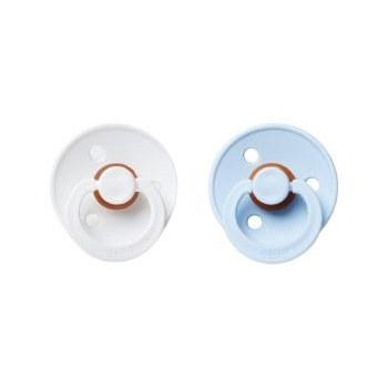 Suce en Caoutchouc Naturel - Blanc/bleu 2/pqt - Taille 2 - Bibs