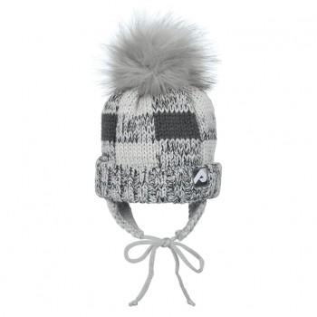 Tuque D'hiver avec Pompom - Gris Pâle/foncé - Perlimpinpin