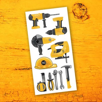 Tatouage Temporaire - Les Outils De Construction - Pico