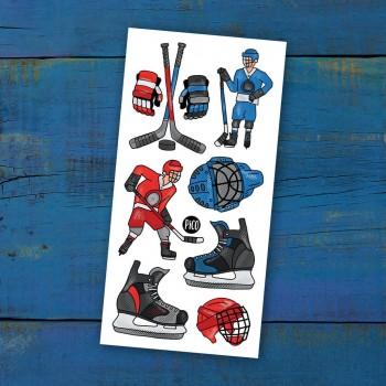 Tatouage Temporaire - La Folie du Hockey - Pico