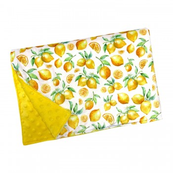 Couverture Minky - Citron - Oops