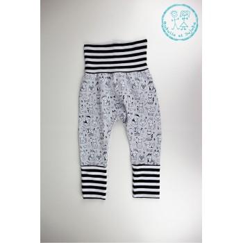 Pantalon Évolutif 3-12mois - Animaux Origami - Bubulle et Jujube
