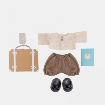 Valise et Vêtements Pour Poupée Dinkum - Rouille