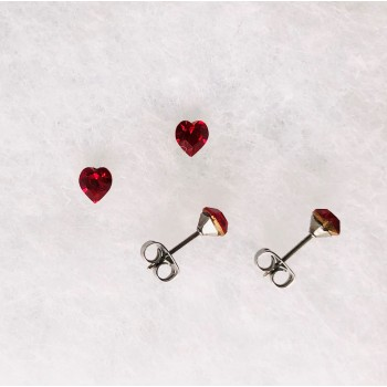 Boucle D'oreilles Mini Coeur Swarovski