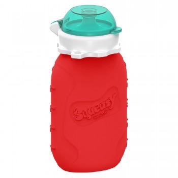 Pochette pour Aliments Réutilisable Squeasy 6oz - rouge