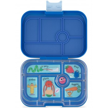 Yumbox Original 6 Compartiments - True Blue - Funny Monster